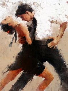 """In Sync by Andre Kohn. Kohn received a formal art education from the University of Moscow where he studied with members of the last great generation of Russian Impressionists. Kohn remains a preeminent leader of Figurative Impressionism and seeks to capture the complexity as well as the simplicity and directness of the human form. """"I'm seeking my own unique, poetic interpretation of the moment,"""" he says. """"I'm striving to find the extraordinary in the ordinary."""""""