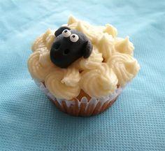 Lone Sheep Cupcakes   CUTE! <3