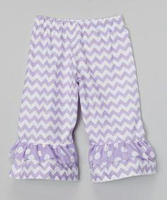 Look at this #zulilyfind! Lavender Spring Days Zigzag Capri Pants - Infant, Toddler & Girls #zulilyfinds