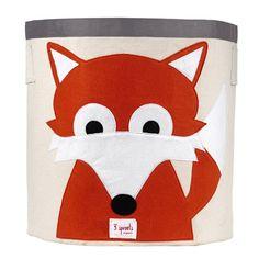 3 Sprouts Organic Storage Bin Fox Orange 3SP11