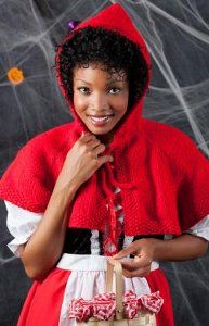 The big bad wolf won't be the only one chasing you this Halloween. Trick or treat in style in the Rosy Red Riding Hood Cape. This is one of our favorite adult homemade Halloween costumes because it's a fun twist on an old classic.