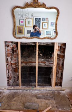 Uncovering Our Hidden Fireplace