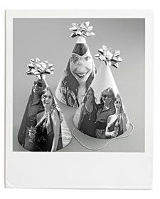 Go for it: Pick especially silly or endearing photos -- choose a few -- for these personalized takes on the classic party hat.