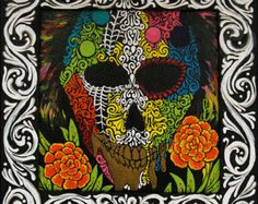 Original Acrylic Day of the Dead painting
