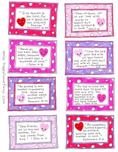 Valentines- Bible verses for 14 days counting down to Valentines day
