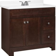 Style Selections Alstead 36-in x 21-in Espresso Traditional Bathroom Vanity $299