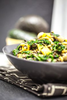 Beluga Lentil & Farro Kale Salad.  SImilar to my other favorite salad, but this has lentils and a different dressing.