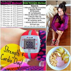 Today's Strength & Treadmill Workout! #printables
