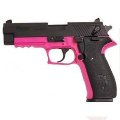 "$367 - SIG Sauer Mosquito Semi-Automatic Rimfire Handgun .22 Long Rifle 3.9"" Barrel 10 Rounds Pink Polymer Frame Blued Slide"