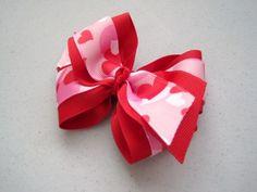 Hearts Camo Bow