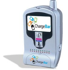 Cell phone charging station www.chargebar.com