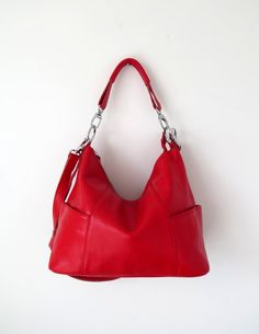 Red leather purse  leather crossbody leather handbag  by Adeleshop, $148.00