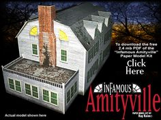 Amityville  Haunted Mansion  Paper Model Kit by Ray Klein.  Free Template