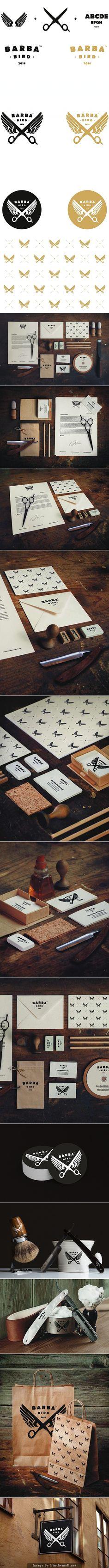 Identity / Barba Bird Brand Study by Dawid Cmok