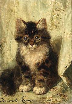 a musing kitten | Henriette Ronner-Knip