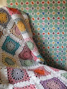 crochet blanket - Drops Paris yarn