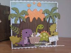 "Recipe  A huge 8 by8 card base!  Create a Critter - volcano 4"",dinosaurs 3"",trees 3.5"",bones,leaves  Everyday Paper Dolls - picnic basket 2"""