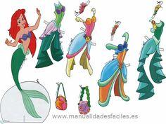 Muñecas recortables Princesas Disney