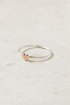 Heart Ring, Rose Gold.