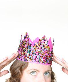 DIY: sequin party crown / The Sweet Escape