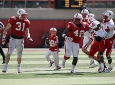 Favorite moment of the spring game Emotion - (Click for VIdeo) At the University of Nebraska's Spring football game, a 7 year old boy with brain cancer was brought onto the field and given the football for one play.