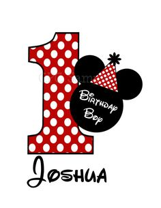 Mouse Birthday Number TShirt or Onesie