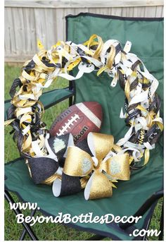 UCF Knights Upcycled Wreath made from recycled plastic bottles