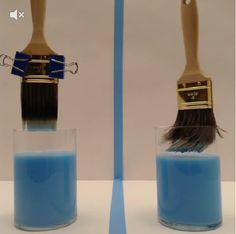 Avoid bent bristles. Use binder clips to hold your paint brush while soaking. #Vine #LowesFixInSix