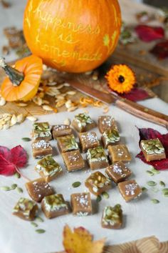Kitchen Vignettes by Aubergine: Salted Pumpkin Caramels