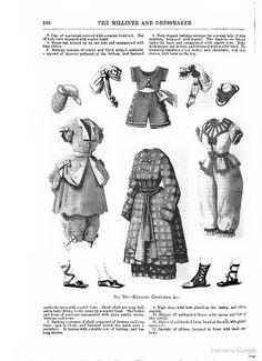 Bathing Costumes, August 1870, The Milliner and Dressmaker