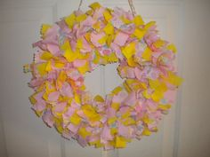 Easter Wreath by RagWreathsbyMissVal on Etsy, $30.00