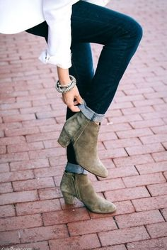 I need a pair of suede booties......