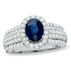Lively blue hues capture the unparalleled design of this breathtaking ring.
