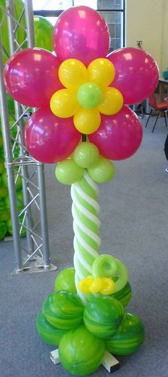 Balloons without helium on pinterest balloon flowers for Balloon decoration ideas without helium