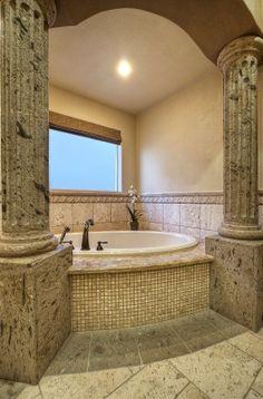 A Roman Style Master Bathroom On Pinterest Travertine