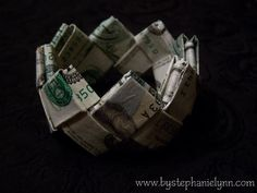 How to Fold a Money Bracelet - Creative way to give money as a gift