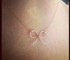 SWEET ROSE BOW NECKLACE by Make Pie Not War
