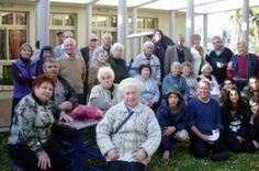 Holocaust survivors at the ICEJ's Haifa home