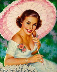 edward dancona, romantic vintage, vintage illustrations, summer beauty, vintage prints