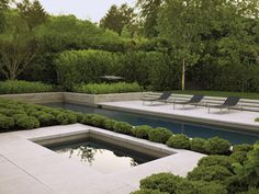 Architecturally dramatic Bay Area garden by landscape architect Andrea Cochran. Photo by Marion Brenner. Via www.californiahomedesign.com.