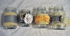 Mason jars - Also pretty? @Sonia Salomone
