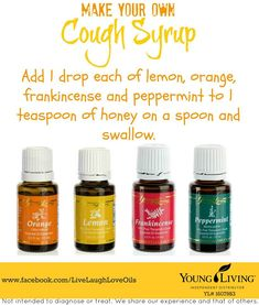 Young Living Essential Oils: Cough | For more information or to order, come visit:  www.thesavvyoiler.com
