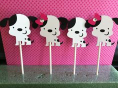Puppy Cupcake Toppers 12 by JensPartyCreations on Etsy, $8.00