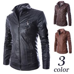 Slim Fit Zip Up Men Fashion Faux Leather Jacket | Sneak Outfitters