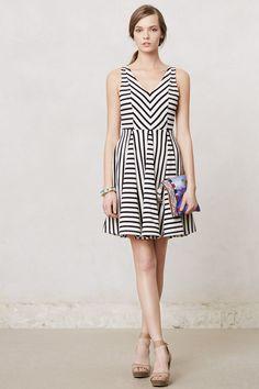 Striped Day Dress - Anthropologie.com