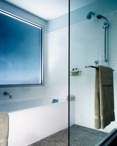 interesting way to do a shower/bath combo