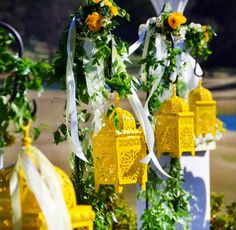 yellow lanterns
