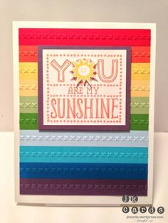 """""""You Are My Sunshine"""" Single Stamps - Stampin' Up! galleries, stamp sets, idea, paper player, backgrounds, papers, player 135, rainbow, cards"""