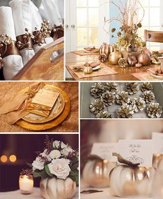 Gold Thanksgiving Table Decor