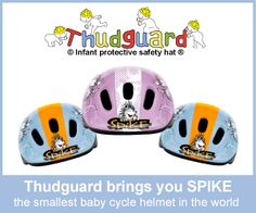 Cute protective helmets for babies and toddlers.